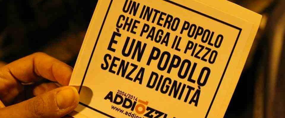 Un intero popolo che paga il pizzo è un popolo senza dignità